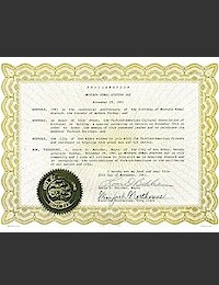Proclamation of Atatürk Day by the city of Ann Arbor - 11/29/1981