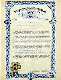 Michigan House Resolution no. 486 Comemmorating the 100th anniversary of Ataturk - 02/23/1982