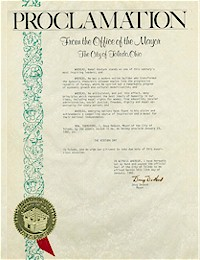 Proclamation of Atatürk Day by the city of Toledo - 10/23/1982