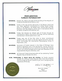 Proclamation of Republic Day by the city of Wixom - 10/29/2010