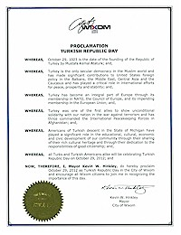 Proclamation of Republic Day by the city of Wixom - 10/29/2012