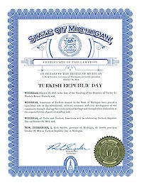 Proclamation of Republic Day by Michigan Governor Rick Snyder - 10/29/2014