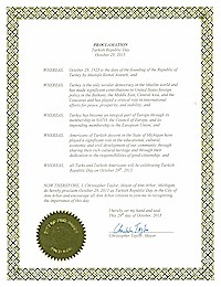 Proclamation of Republic Day by the city of AnnArbor - 10/29/2015