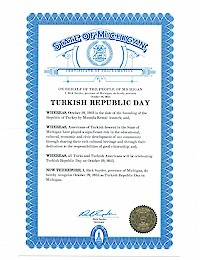 Proclamation of Republic Day by Michigan Governor Rick Snyder - 10/29/2015