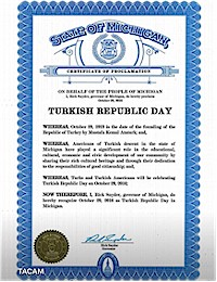 Proclamation of Republic Day by Michigan Governor Rick Snyder - 10/29/2016
