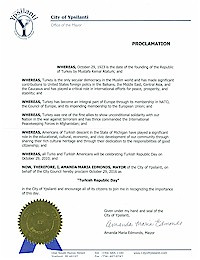 Proclamation of Republic Day by the city of Ypsilanti - 10/29/2016