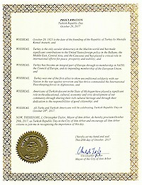 Proclamation of Republic Day by the city of Ann Arbor - 10/29/2017