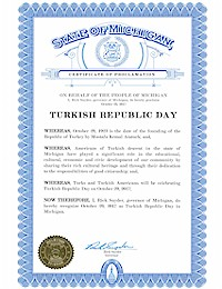 Proclamation of Republic Day by Michigan Governor Rick Snyder - 10/29/2017
