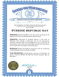 Proclamation of Republic Day by Michigan Governor Rick Snyder - 10/29/2018