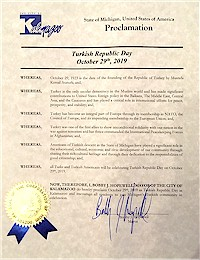 Proclamation of Republic Day by the city of Kalamazoo - 10/29/2019