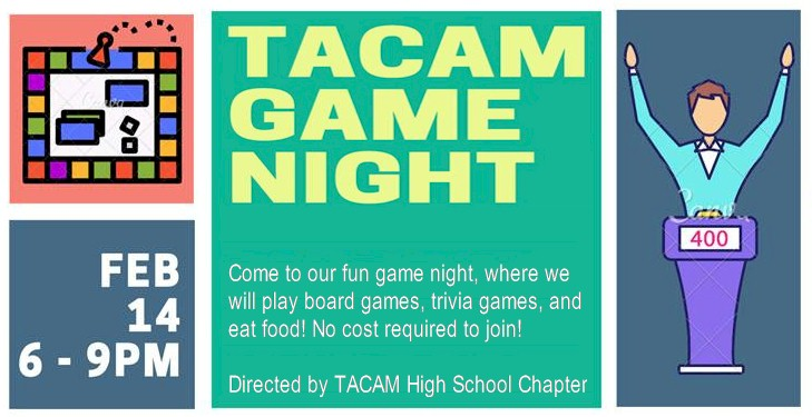 Game night for kids at TACAM